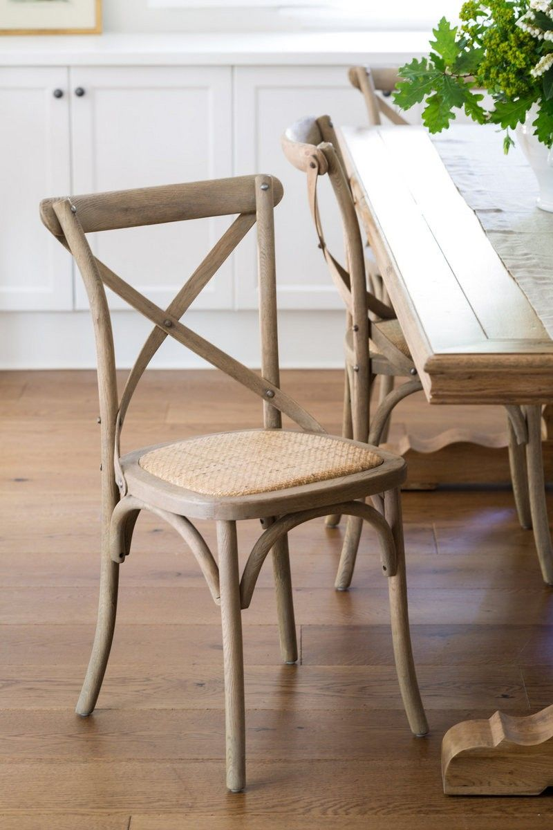 Our Elm Wood Cross Back Chairs. Set of 2 Oak Chairs | 407 House Ideas Dining chairs