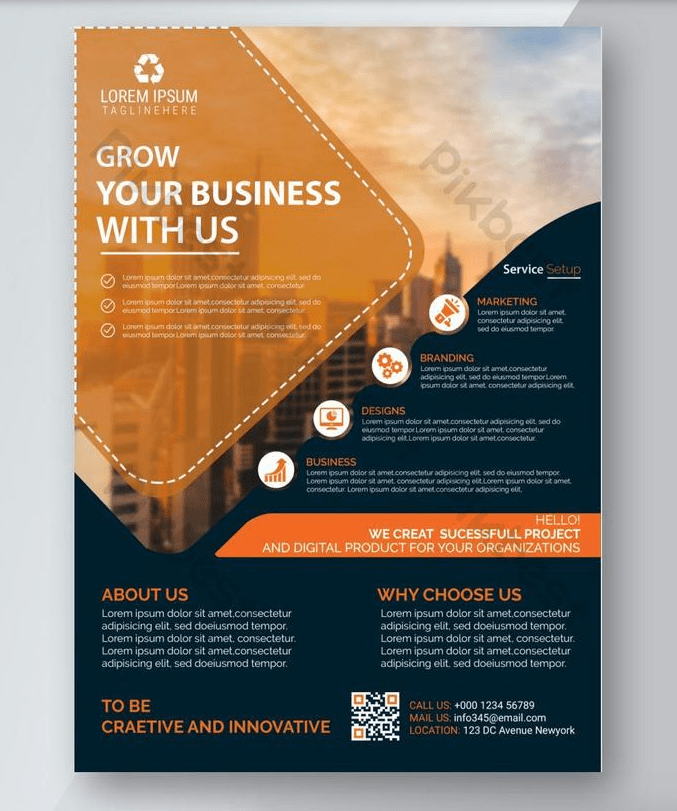 Creative Corporate Agency Free PSD Flyer Template (With Images