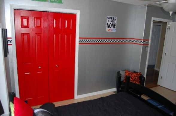 red closet doors