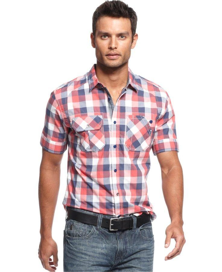 Geek Dad - Short Sleeve Plaid Shirt | Adam's | Pinterest | Shorts ...