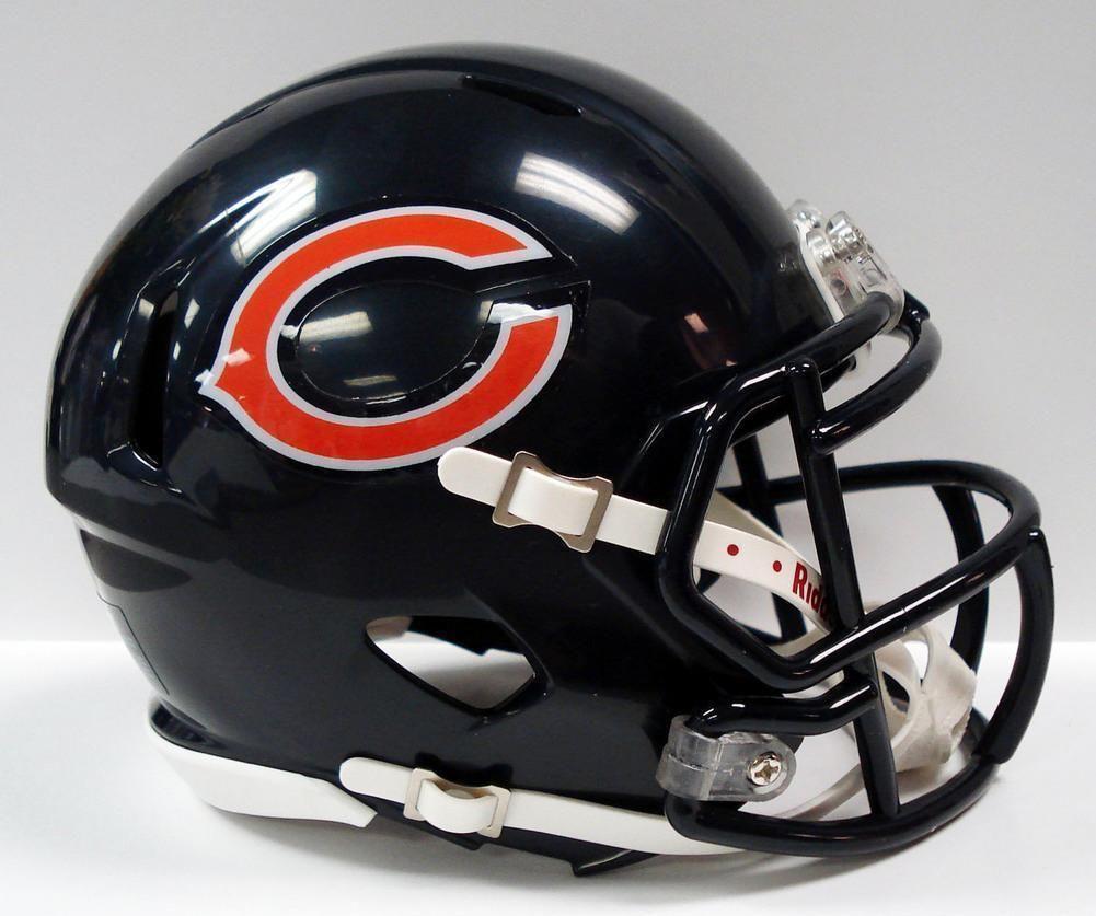 Nfl riddell revolution speed mini helmet chicago bears