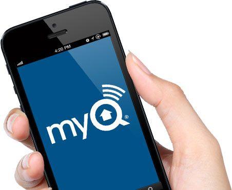 Chamberlain Garage Door Openers Myq Home App On A Smartphone