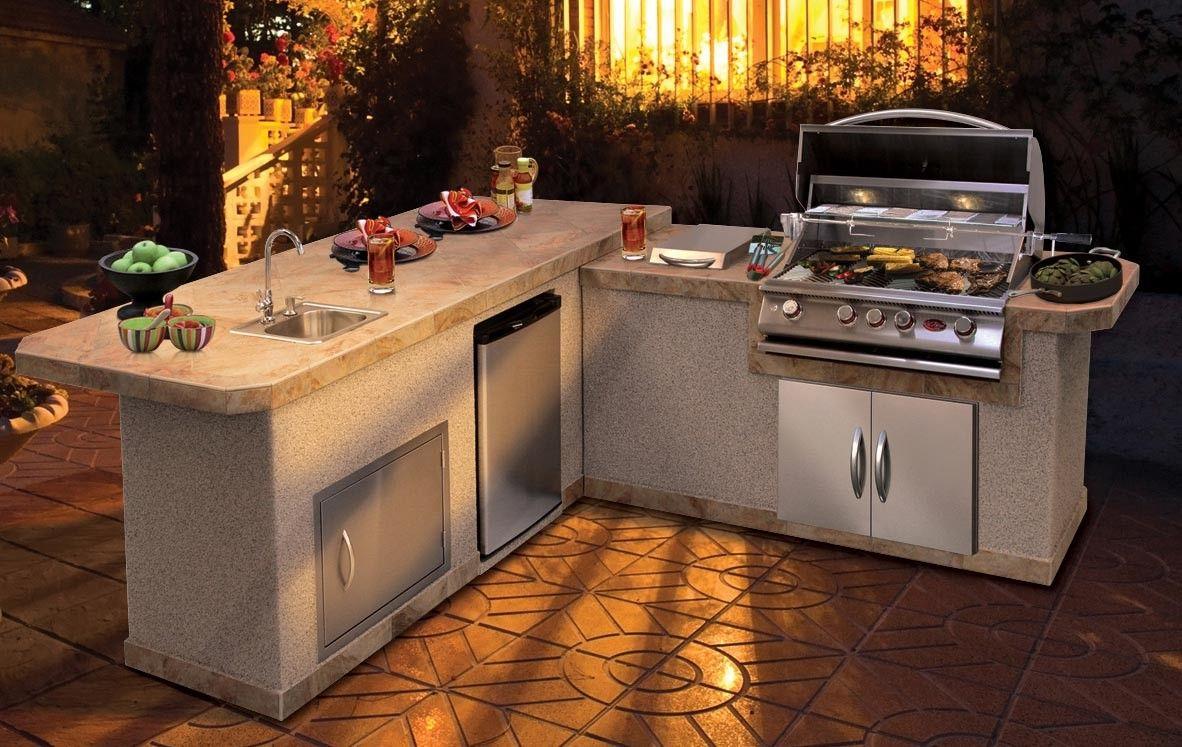 California Hot Spas Cal Flame Barbecue Island Lbk 870 Diy Outdoor Kitchen Cal Flame Bbq Island