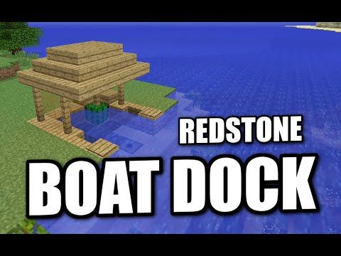 Minecraft PS4 - REDSTONE BOAT DOCK - Tutorial ( PS3 / XBOX / WII