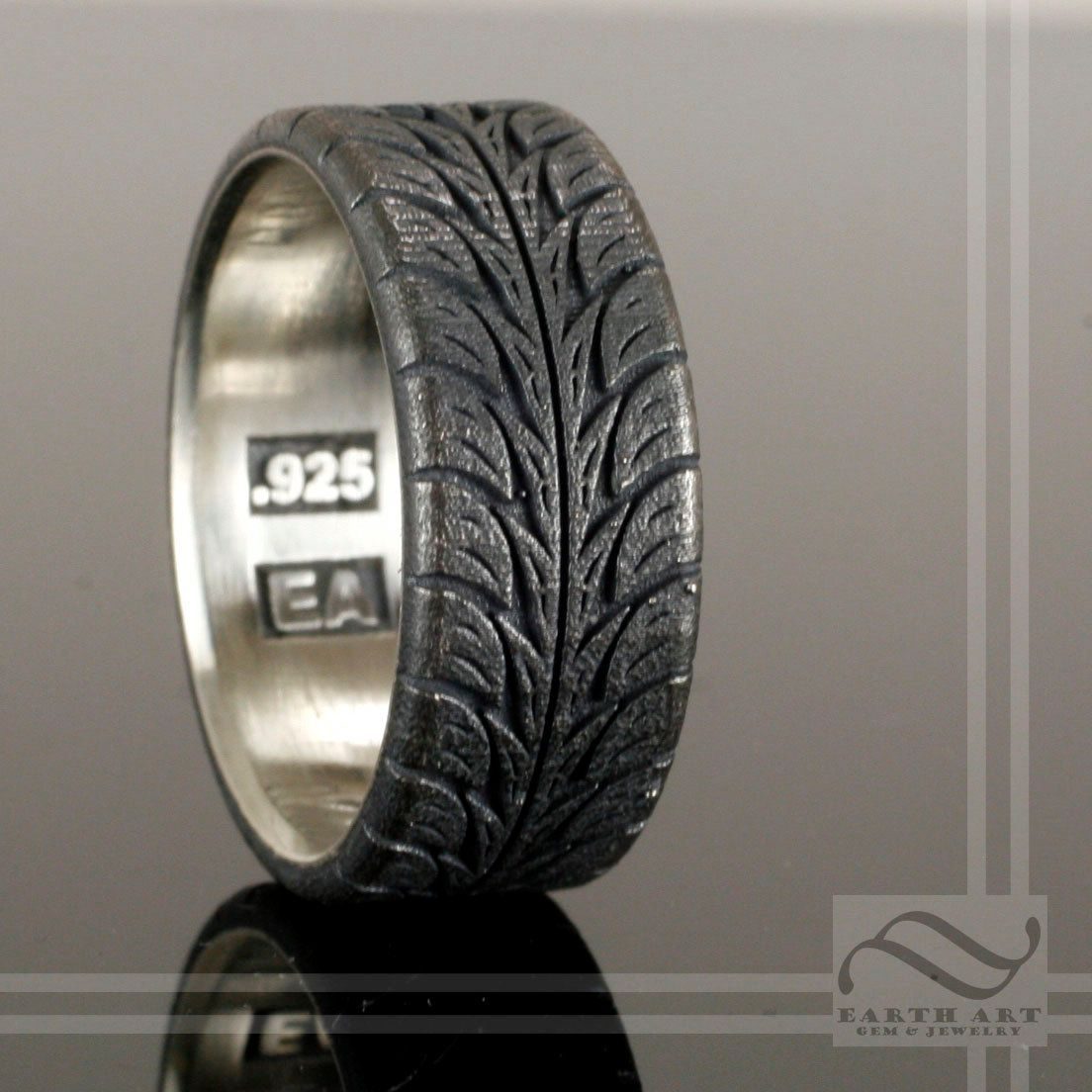 low+profite+tire+tread+ring+sterling+silver+by+mooredesign13,+$