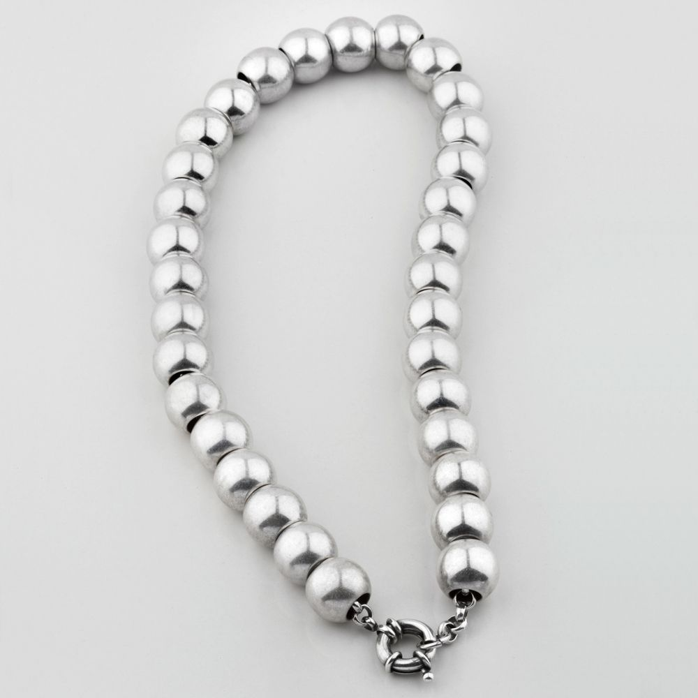 Miglio Designer Jewellery - Luminescent Silver Bead Necklace, R899.00 (http://shopza.miglio.com/shop-by-product/luminescent-silver-bead-necklace/)