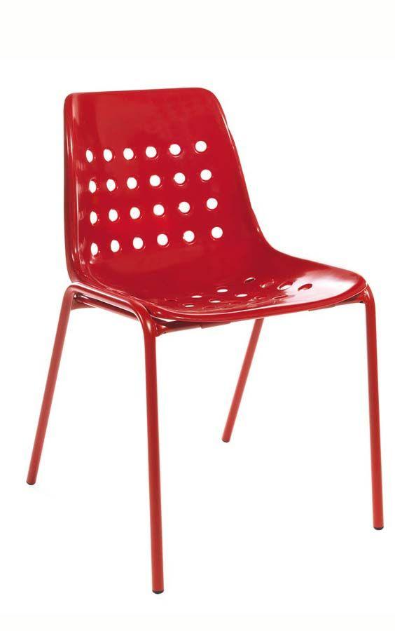 Gartenstuhl rot Stapelstuhl rot für den Garten Schaffner - gartenmobel set alu weis