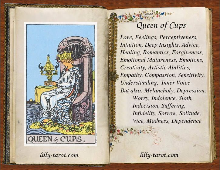 queen of cups love emotions sensitivity httplilly