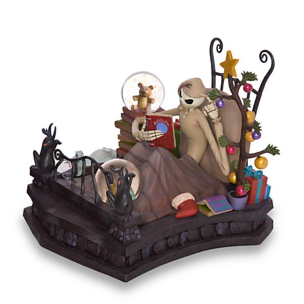 Nightmare before christmas bedtime jack skellington snow globe [rare ...