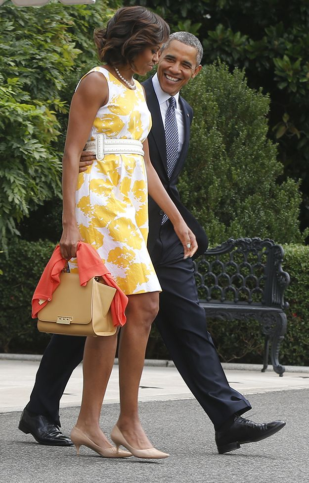 Michelle Obama shows us what to wear to a spring wedding