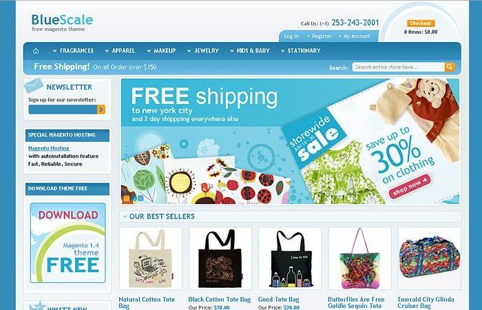 Bluescale free magento 14xx template free html website bluescale free magento 14xx template maxwellsz