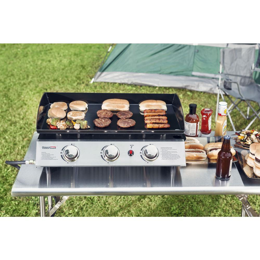 Royal Gourmet 316 Sq In 3 Burner Propane Gas Grill Cooking Griddles In Stainless Steel And Black With Propane Gas Grill Cooking On The Grill Griddle Cooking