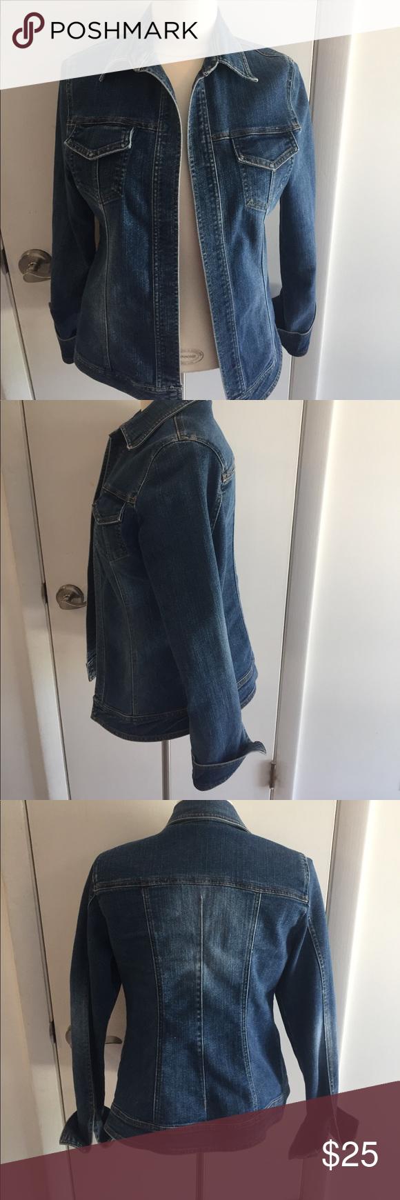 Denim jacket open front denim cache jacket daughter wore it over