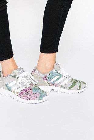These muted floral lace-ups that will add a dainty touch to your ...