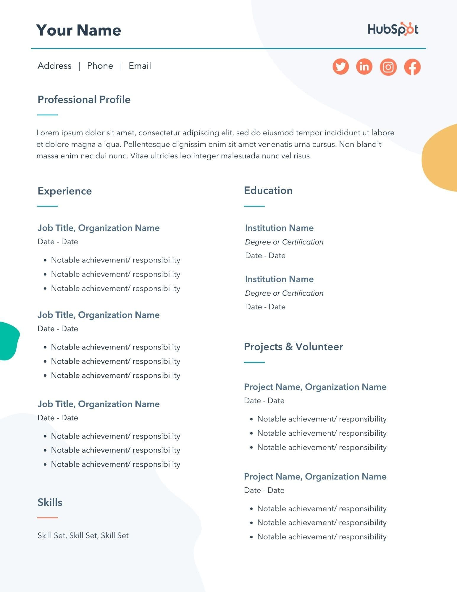 29 Free Resume Templates for Microsoft Word (& How to Make