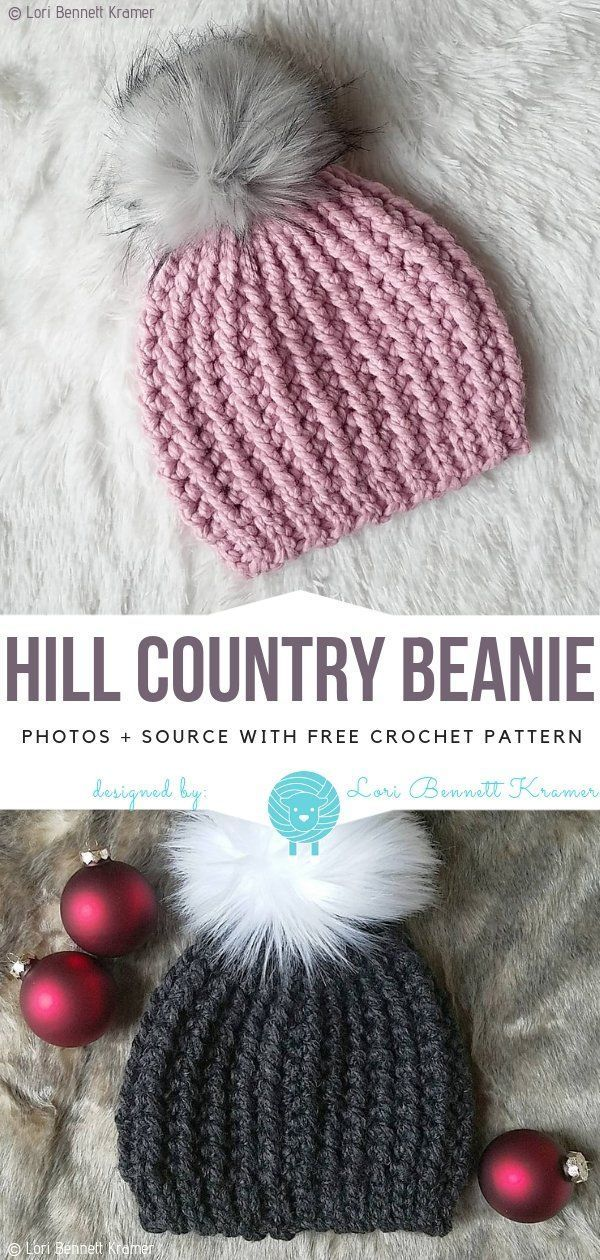 Cosy Winter Hats Free Crochet Patterns #beaniehats