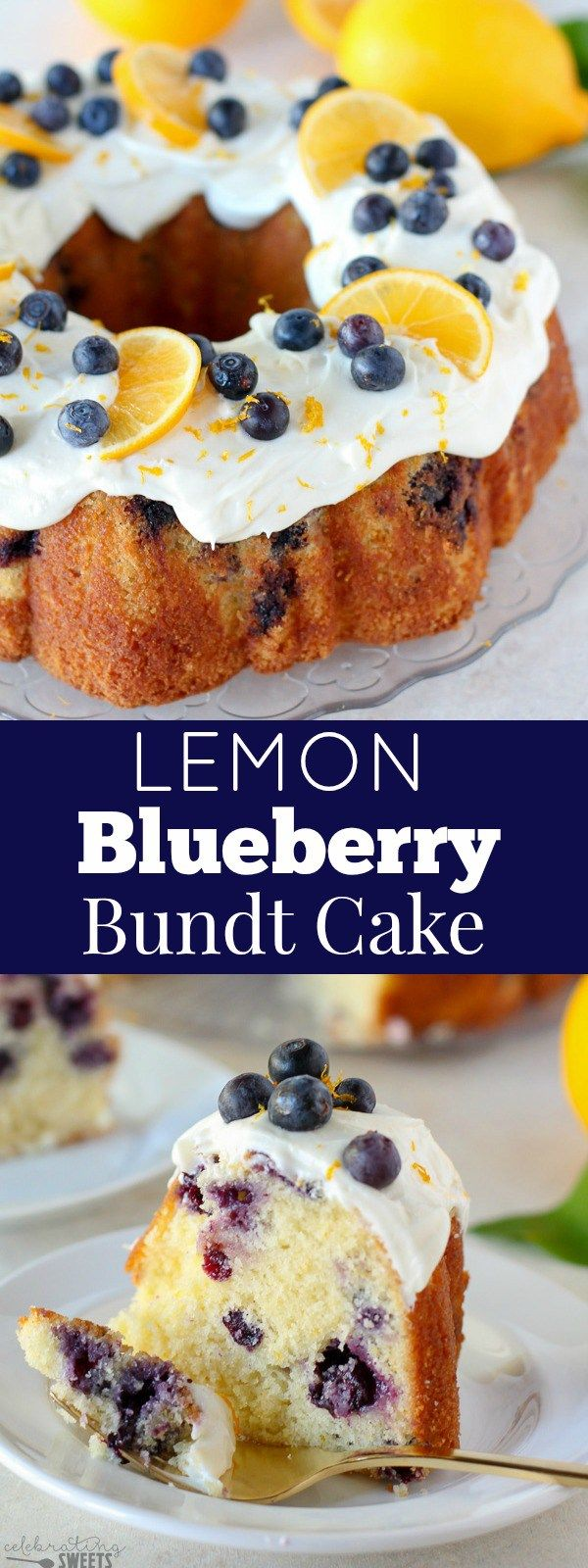 Lemon Blueberry Bundt Cake A Moist And Tender Lemon Buttermilk Bundt Cake Filled With Fresh Blueberries And Topped With Cream Cheese Frost With Images Blueberry Bundt Cake