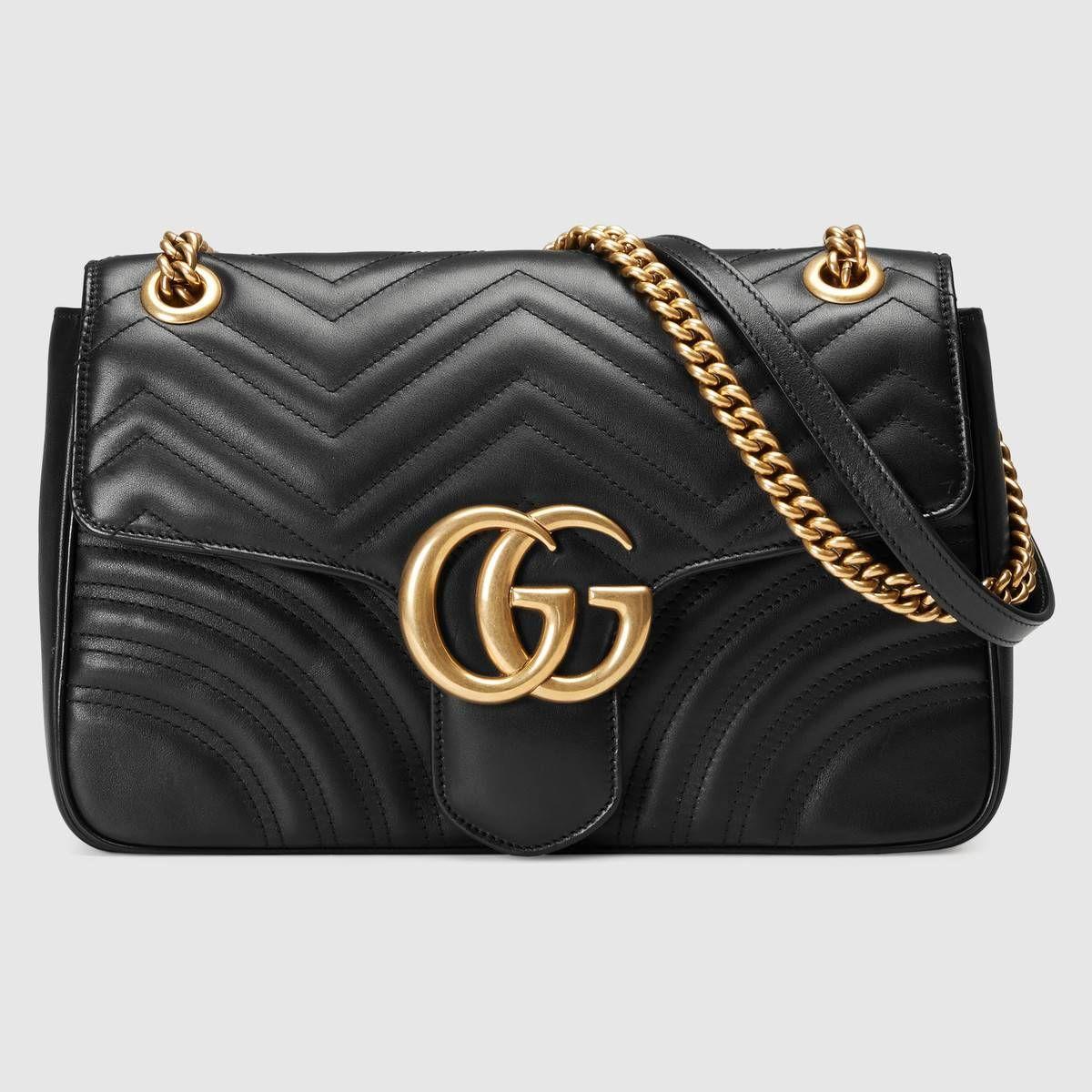 6988a980d41 Mittelgroße GG Marmont Schultertasche aus Matelassé - Gucci  Damenschultertaschen 443496DRW3T1000