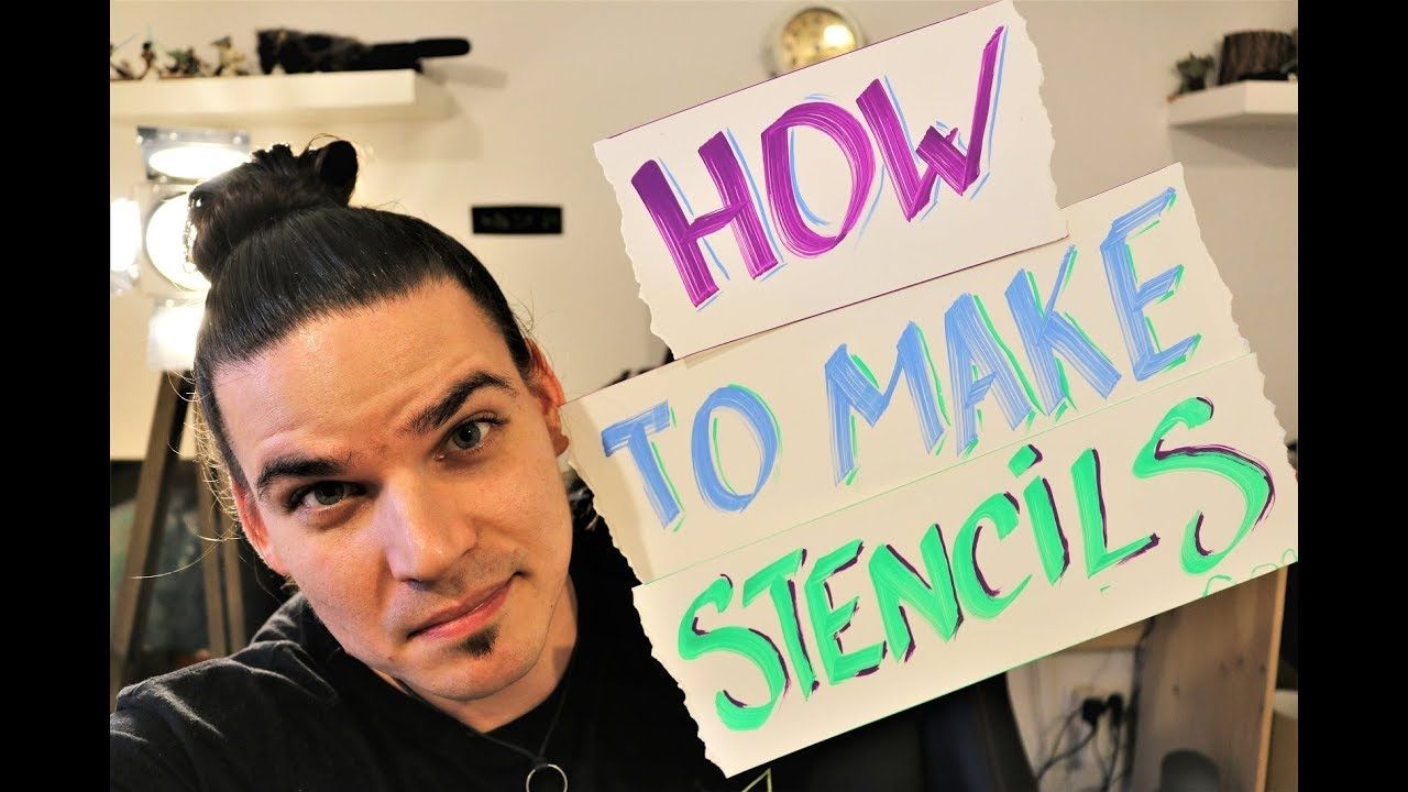 How to make stencils for spray paint art spray paint art