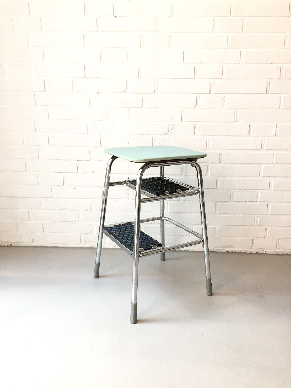 Vintage stool, pedal, folding stool, head, Midcentury Interior ...