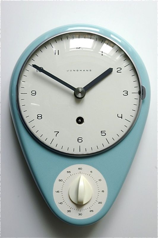 Love This Kitchen Clock With Timer All Things Retro Pinterest Kitchen Clocks Clocks