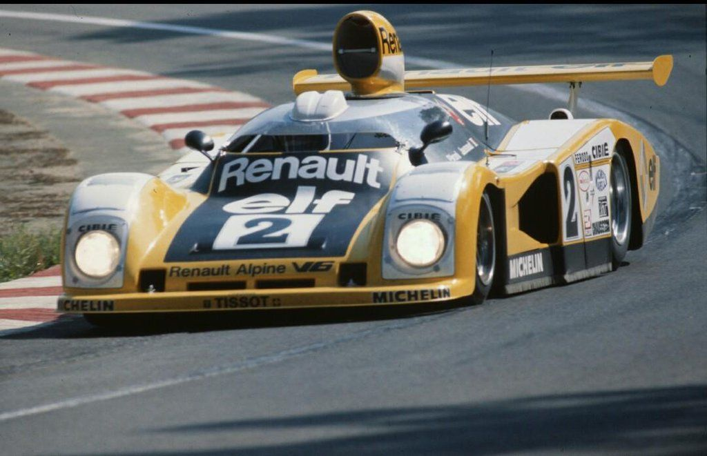 Didier Pironi just visible in the Renault-Alpine A442B cockpit, Le Mans 1977