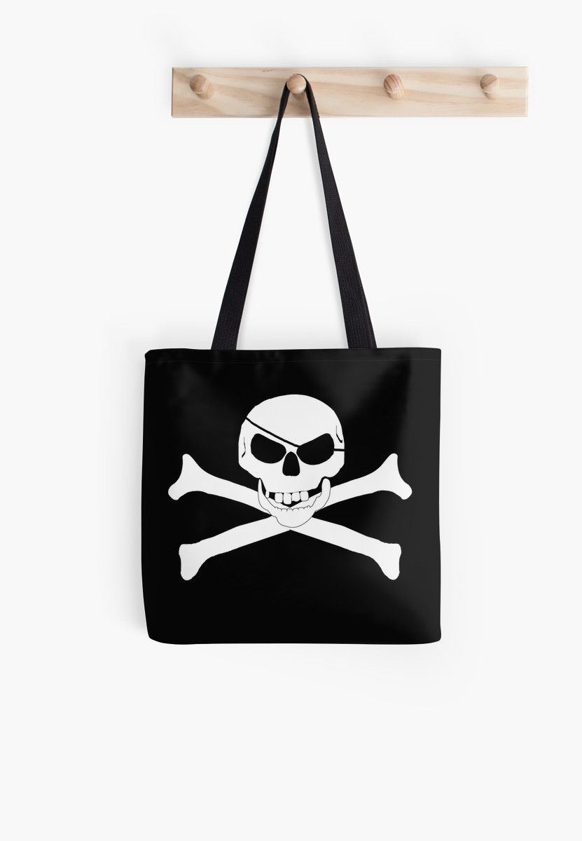 Skull and Cross Bones - Jolly Roger   Tote Bag by #Gravityx9 at #redbubble   #totebag  #pirate #jollyroger