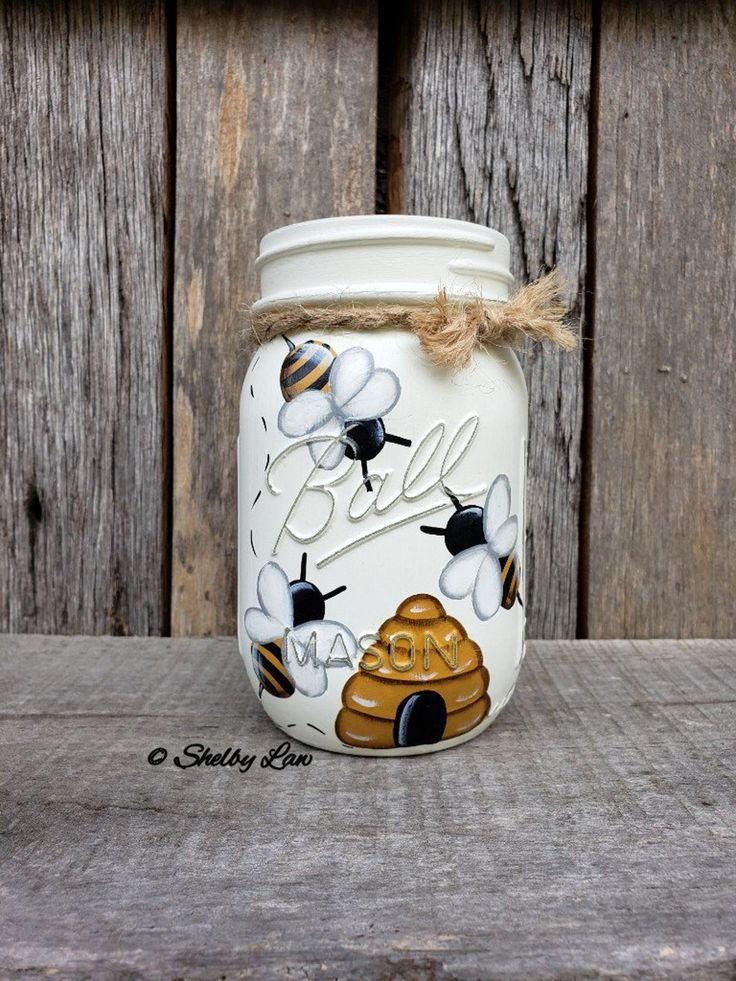 Honey Bee Mason Jar, Pint