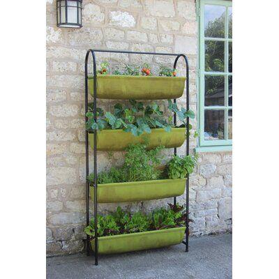 Freeport Park Blakely Metal Vertical Garden In 2020 Metal Garden Benches Vertical Garden Tiered Planter