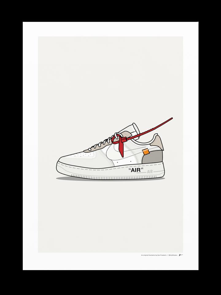Off White Air Force 1 Sneaker Posters Sneaker Art Sneakers Wallpaper
