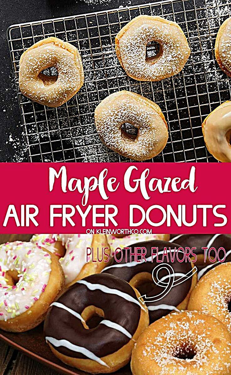 - Air Fryer Maple Glazed Donuts are a quick & easy breakfast recipe that's ready in just 15 min. Gre...