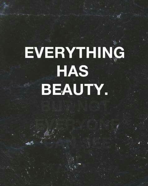 find the beauty love life thoughts