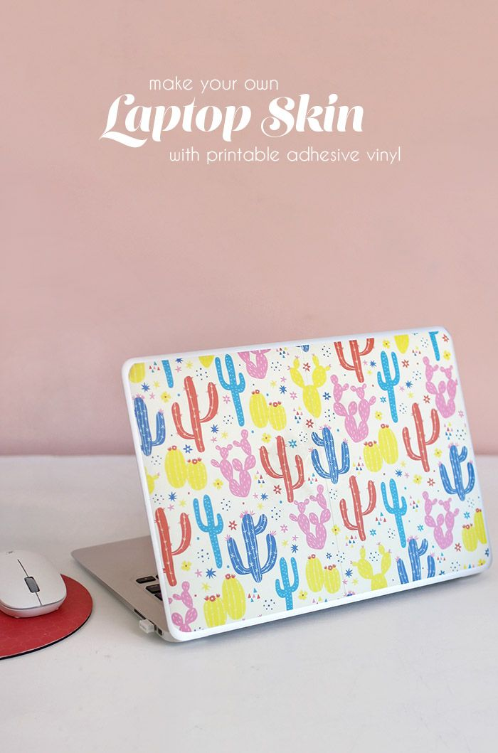 Laptop Skin With Printable Adhesive Vinyl Diy Laptop Printable Vinyl Inkjet Printable Vinyl
