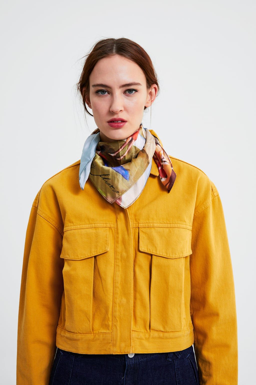 0b84faf6d1d Cropped jacket with pockets in 2019 | Zara | Jackets, Jackets for ...