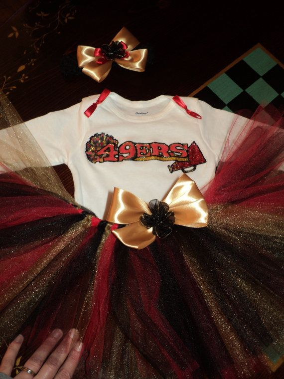 San Francisco 49ers tutu outfit cheerleader NFL by 22PrInCeSs, $35.00