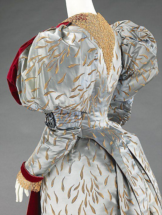 Evening ensemble. House of Worth. 1893. MET