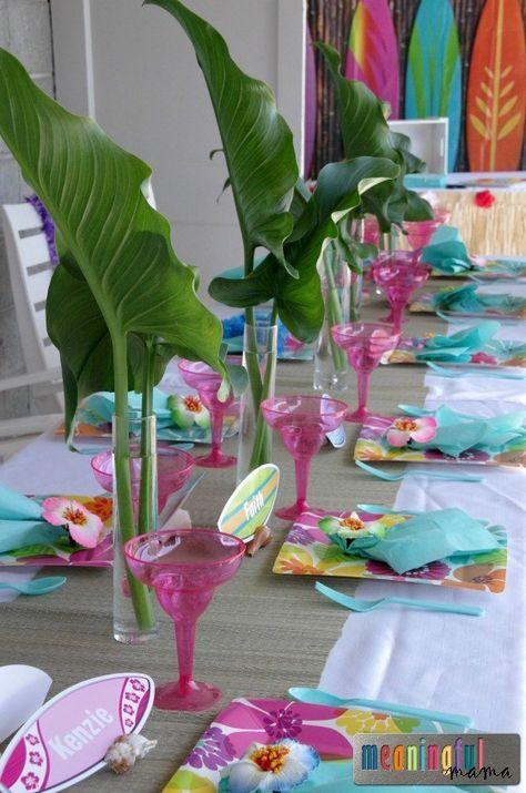 Luau Birthday Party Ideas #tropicalbirthdayparty