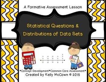 Statistical Questions & Distributions of Data Sets