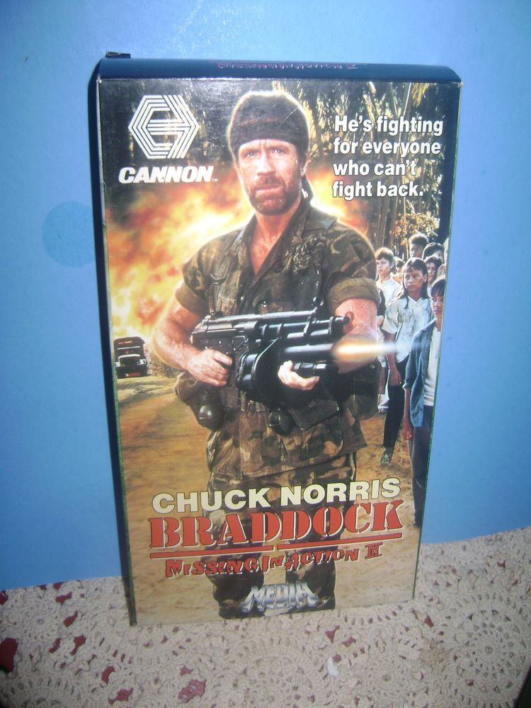 BRADDOCK Missing In Action 3 VHS Chuck Norris Aki Aleong Media