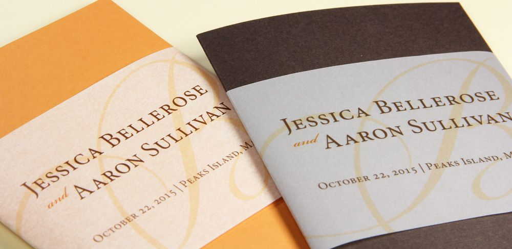 folding wedding programs with wide printed vellum bands | Make ...