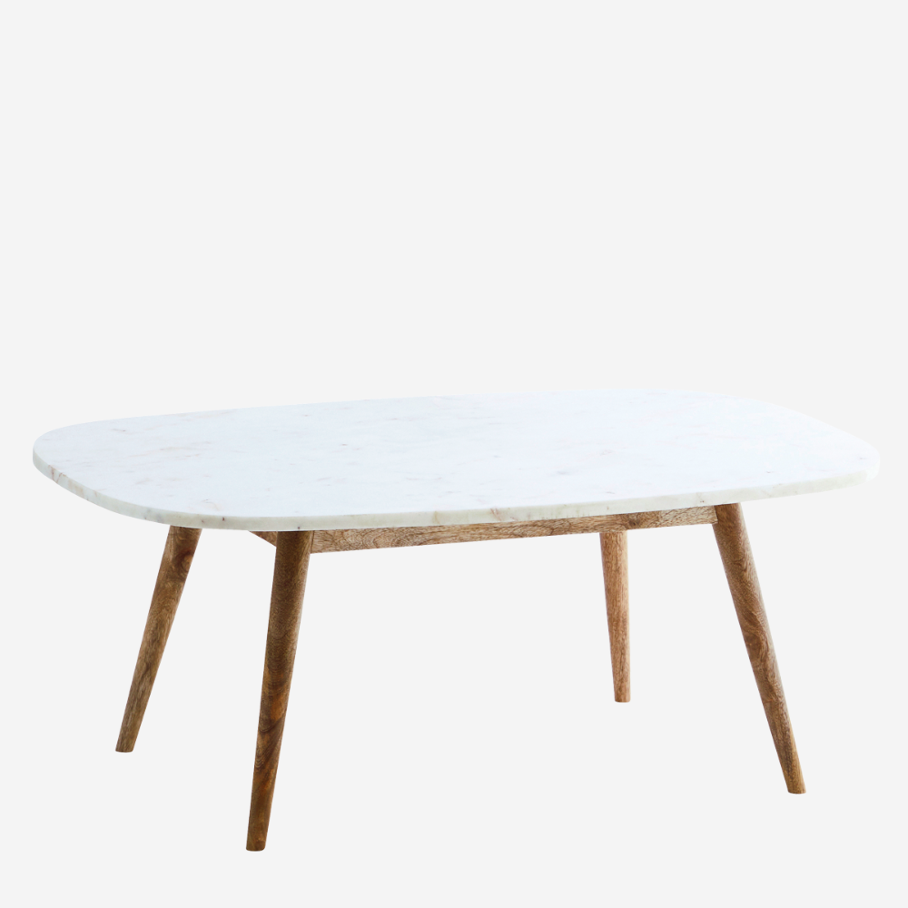 Marble Coffee Table W Wooden Legs Marble Coffee Table Coffee Table Table [ 1000 x 1000 Pixel ]