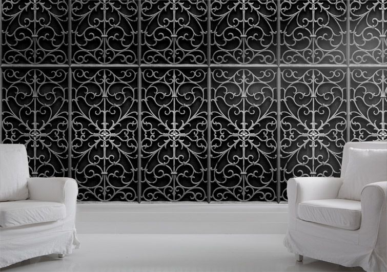 Exceptionnel Wrought Iron Wall Art Interior And Exterior Decoration: Decorative Wrought  Iron Wall Panels