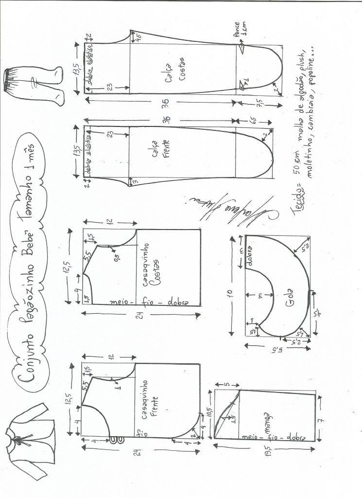 f7bf447c41 Esquema de modelagem de mijãozinho e pagãozinho tamanho 1 mês.  Pagão De  Bebê