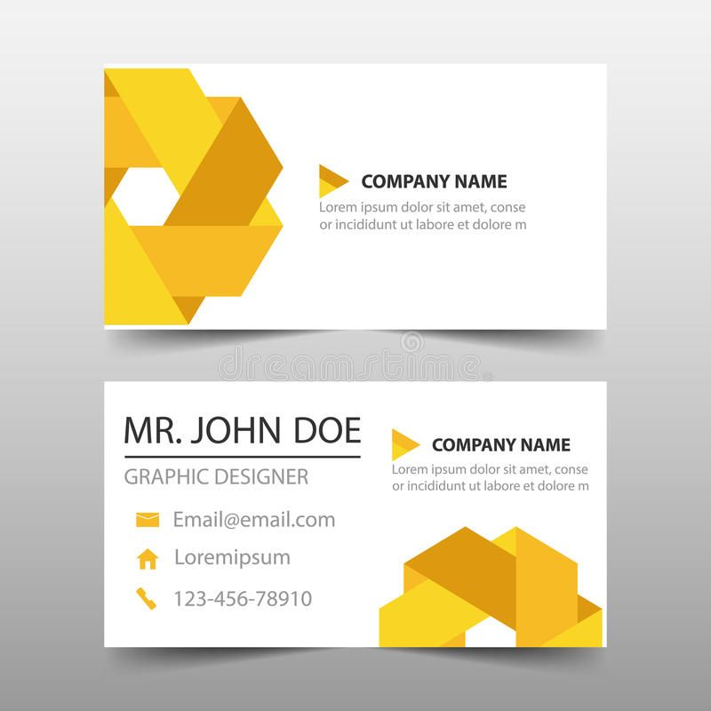 Yellow Triangle Corporate Business Card Name Card Template