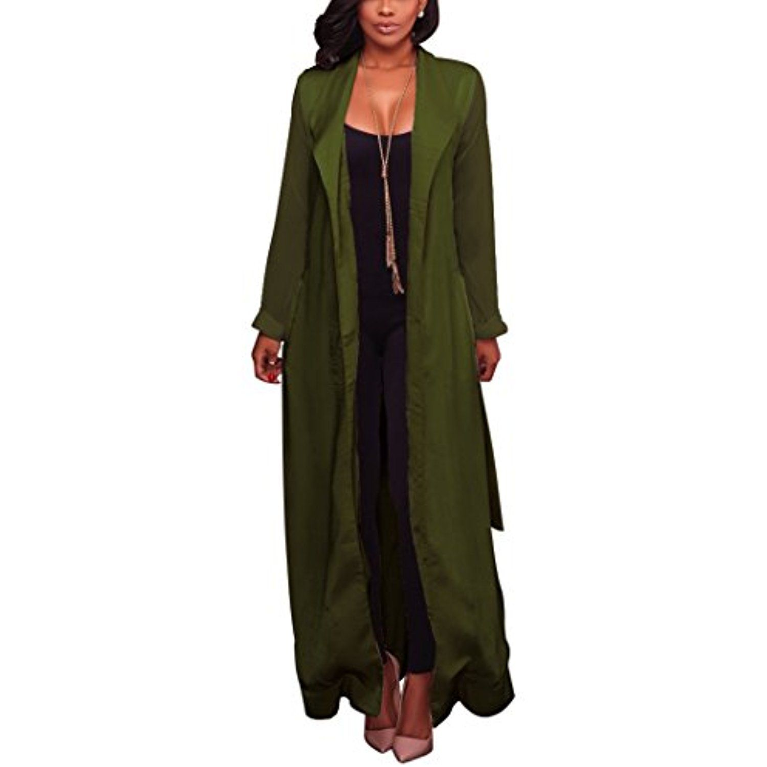 Women's Cape Blazer Trench Duster Coat Lightweight Cloak Cape Suit ...