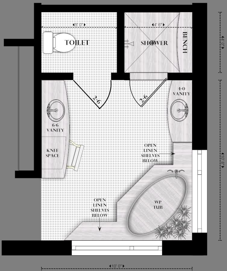 Master Bathroom Layout - Bing Images … | Master bathroom ...