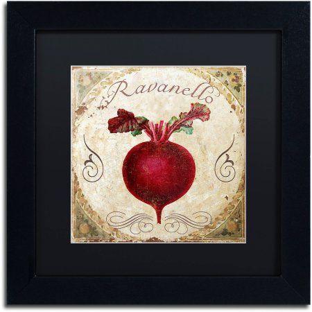 Trademark Fine Art Mangia I Canvas Art By Color Bakery Black Matte