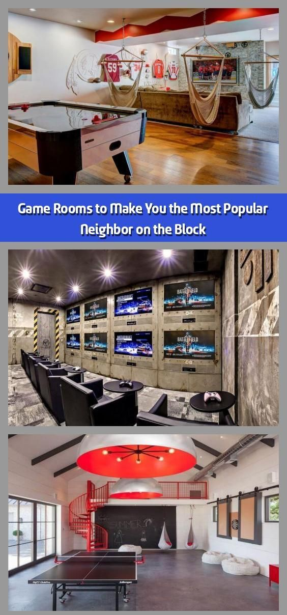 Photo of Game Rooms to Make You the Most Popular Neighbor on the Block – A game room (or …