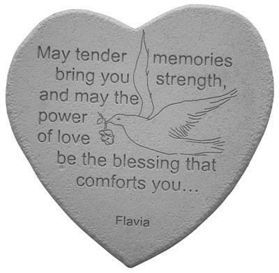 May Tender Memories Bring You Strength Heart Shaped Memorial Stone - 08802
