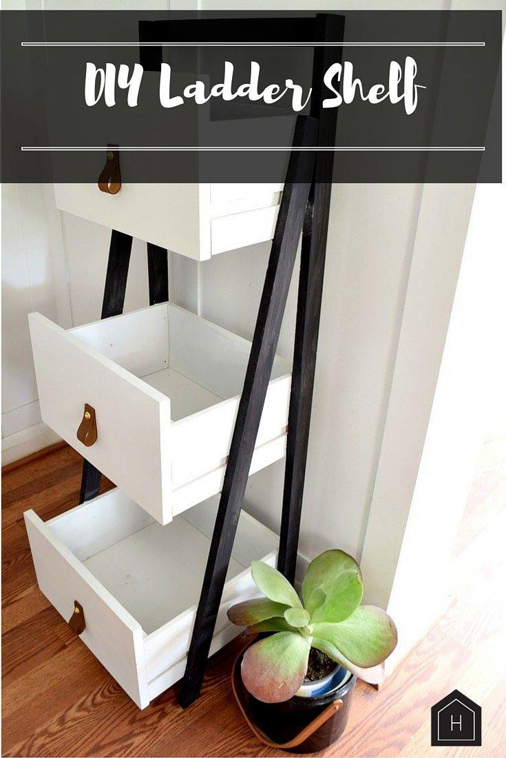 Photo of DIY Ladder Shelf Gets a Modern Update